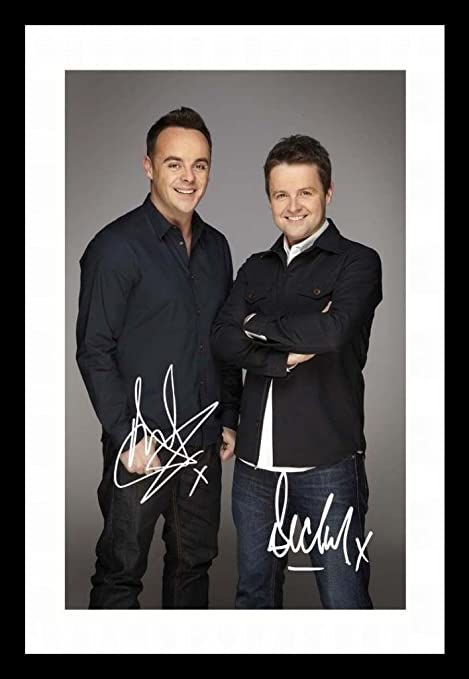 Ant And Dec Autographed Signed A4 21cm x 29.7cm Poster Photo