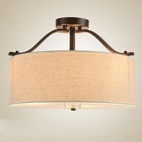 Retro Diseño Lámpara de Techo 3-Luces Redondo Lámpara de ...