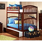 Richland Twin over Twin Bunk Bed | Urban Trundle | Antique Walnut
