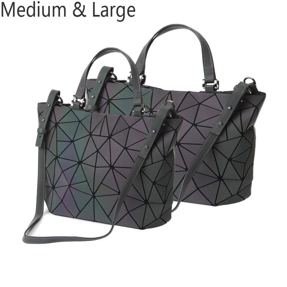 7a7df0ad73c2 Amazon.com  HotOne Geometric Luminous Purses and Handbags Shard Lattice  Holographic Purse Fit 14