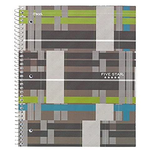Five Star Graphics Spiral Notebook, 1 Subject, College Ruled, 11 in.x 8.5 in., Brown (73243) - Felt Tip Font