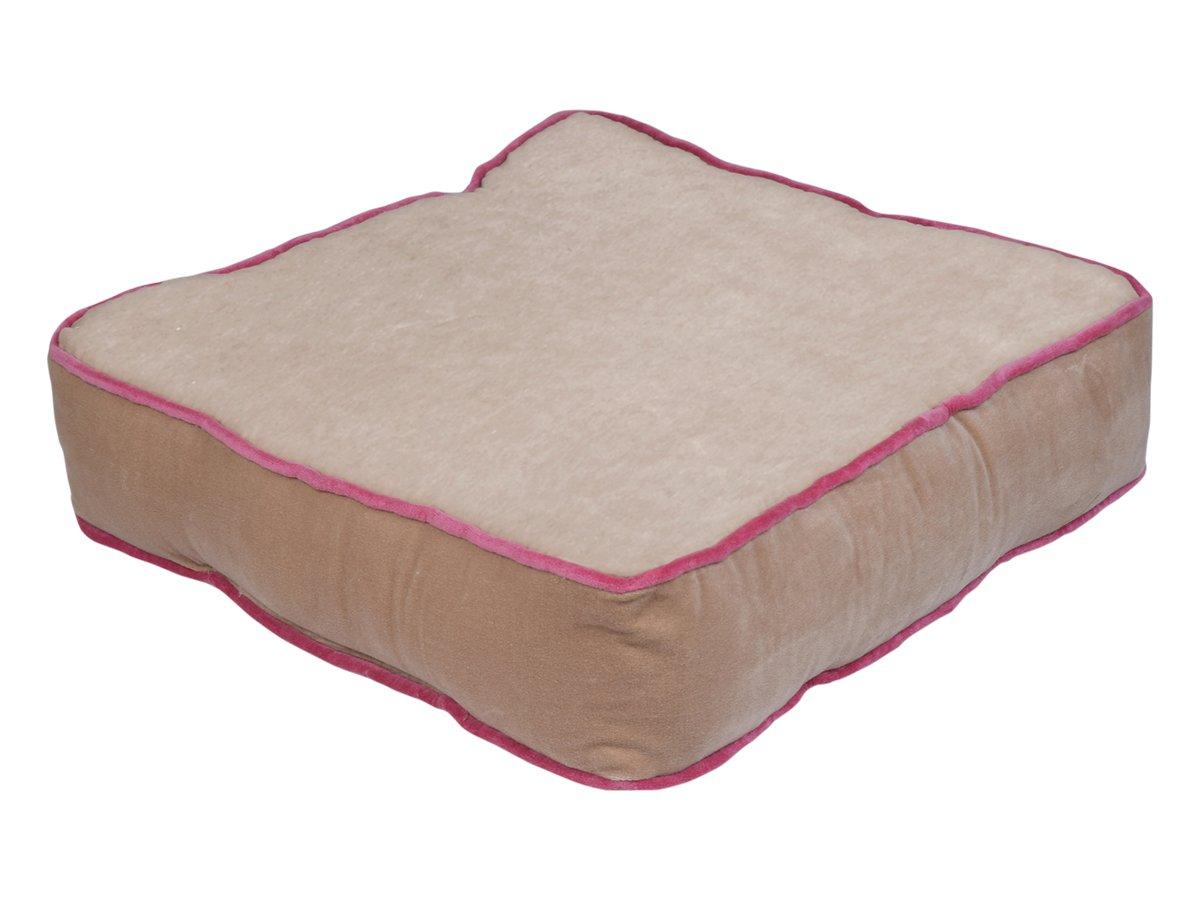 storeindya Floor Cushion Pillow Chunky Indoor Outdoor 100% Cotton Velvet Floor Cushion for Home Office (Beige)