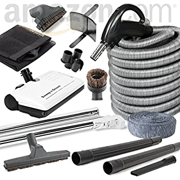 beam compatible central vacuum electric powerhead sweep n groom rugmaster 30u0027 hose kit
