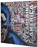 Marvel Captain America Retro XL Metallic Canvas Comic superhero wall Art, 25x25 Edge Home A2501CA4