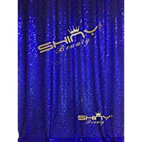 ShinyBeauty 3FTX7FT-Sequin Backdrop-Curtain-Royal Blue,36X84-Inches Sequin Photography Curtain,Ready to SHIP. (Royal Blue)