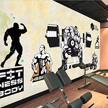 Papel tapiz personalizado 3D Mural Gym Muscles Beautiful Girl ...