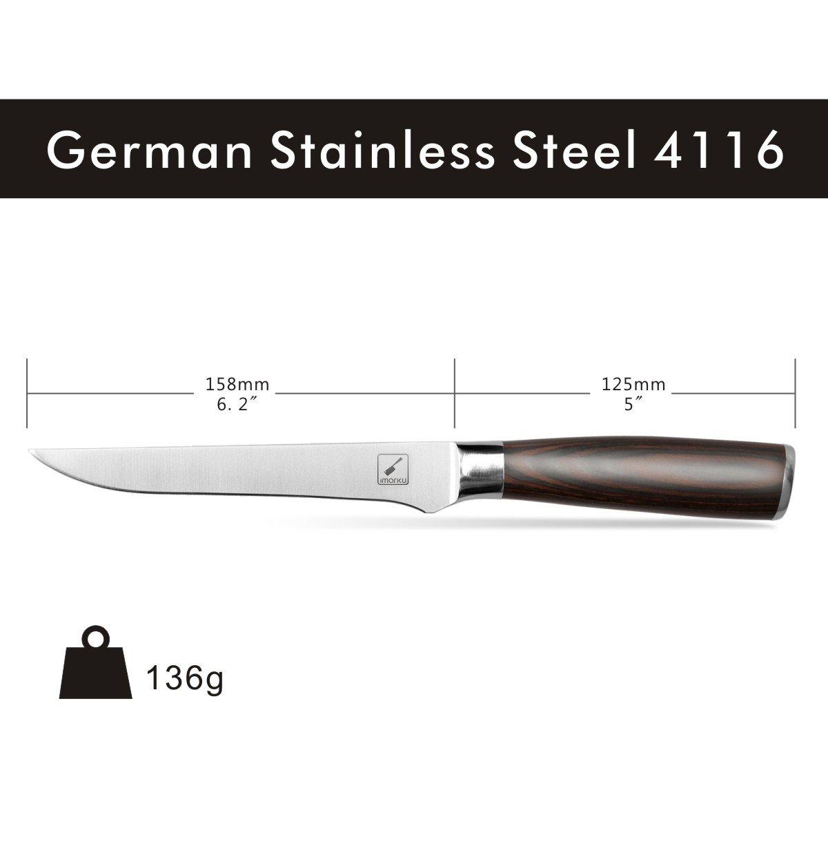 amazon com imarku professional 6 inch boning knife german high