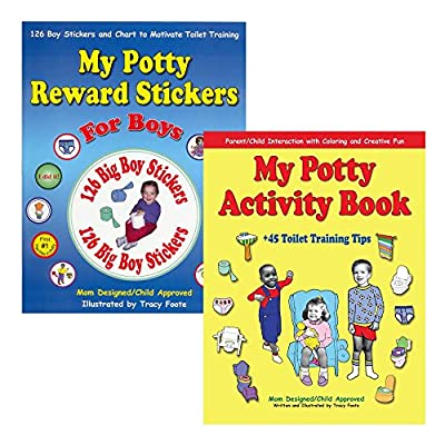 Potty Training Kit: 126 Boy Reward Stickers, Chart, Coloring Activity Book, and the Best 45 Parent Toilet Training Tips to Encourage Positive Reinforcement