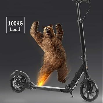 IG Scooter plegable negro para adultos con freno de mano ...
