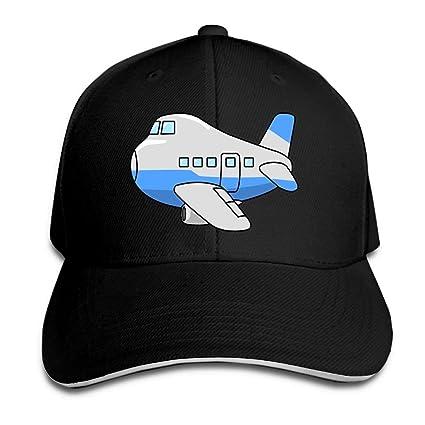 Unisex Cute Airplane Clip Art Sandwich Peaked Cap Adjustable Cotton Baseball Caps