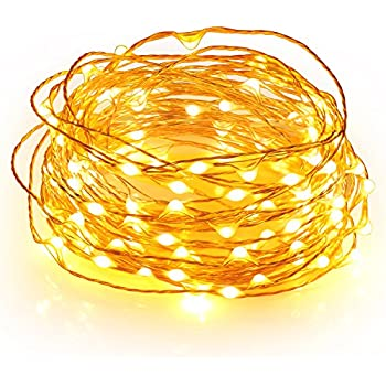 Boomile Fairy Lights, 100 LEDs, Flexible Copper Wire String Lights, Warm White, Indoor and Outdoor for Bedroom, Garden, Patio, Wedding, Tree, Party, Christmas(33ft)