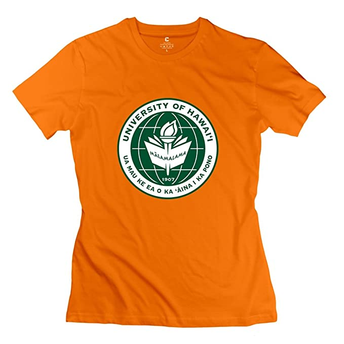 Orange VAVD Women s University Of Hawaii At Manoa 100% Cotton T-Shirt Size  XXL e30d93056