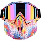 Outamateur Motorcycle Goggles Mask - Protective Glasses with Detachable Mask Adjustable Windproof Outdoor Mask Face…