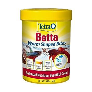 amazon com tetra betta worm shaped bites pet supplies