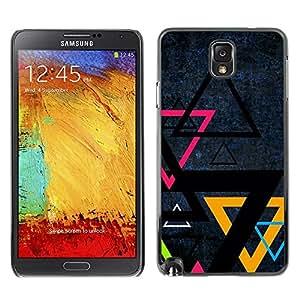 TopCaseStore / la caja del caucho duro de la cubierta de protección de la piel - Triangle Color Art - Samsung Galaxy Note 3 N9000 N9002 N9005