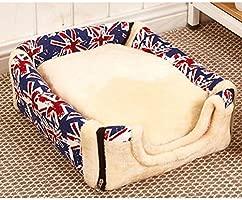 ANPI 2 en 1 Casa y Sofá para Mascotas, Lavable a Máquina Casa Cama de Perro Gato Puppy Conejo Mascota Antideslizante Plegable Suave Calentar con Cojín ...