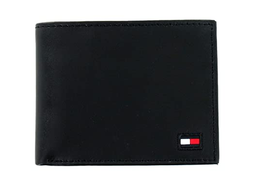 look for release info on exquisite style Tommy Hilfiger Men's Black Leather RFID Wallet & Valet at ...