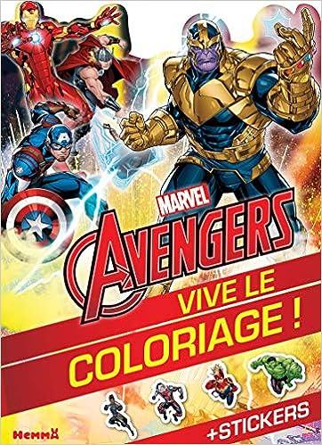 Amazon Com Marvel Avengers Vive Le Coloriage Thanos Et Avengers French Edition 9782508048241 Collectif Books
