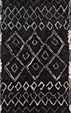 Cheap Momeni Rugs MARGEMGX-3BLK2380 Margaux Table Tufted Contemporary Geometric Area Rug, 2'3″ x 8'0″, Black