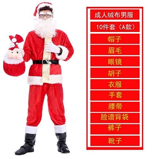 LanMiu Traje de Navidad para niños Adultos Ropa de Santa ...