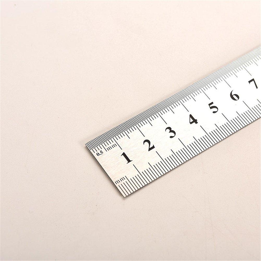 3x Toruiwa Ruler R/ègle en Acier Inoxydable avec Double Face de Mesureur Outil de Mesure 15cm 20cm 30cm
