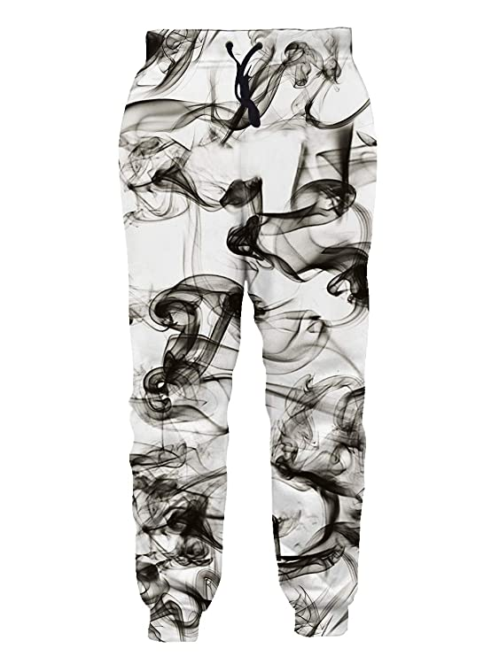 Goodstoworld Men/Women 3D Joggers Fog Pants Trousers Sport Track Sweatpants Baggy