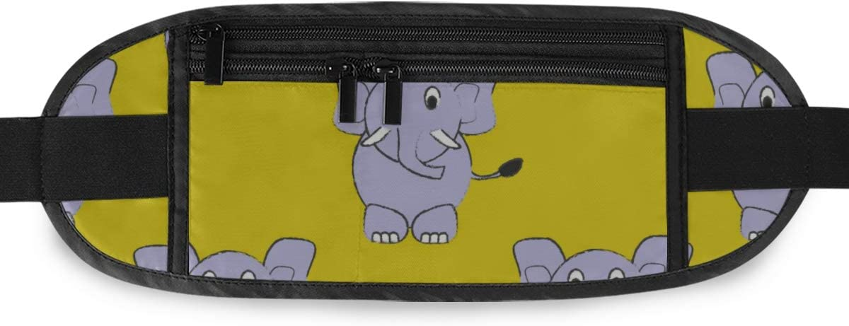 Cute Pattern Elephant Brushed Cartoon Running Lumbar Pack For Travel Outdoor Sports Walking Travel Waist Pack,travel Pocket With Adjustable Belt