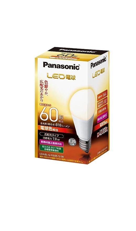 Panasonic LED bombilla luz bombilla tipo amplia General distribución tipo 7,8 W (color de la bombilla equivalente) E27 CAP Bombilla 60 W Tipo equivalente ...