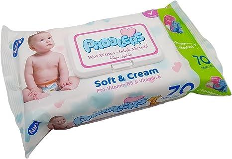 Toallitas Húmedas Paddlers para bebé - Soft & Cream - 70 unidades ...