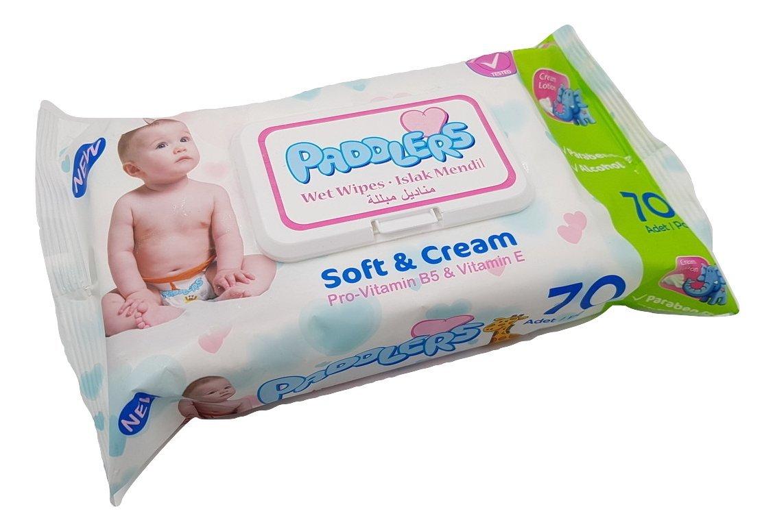 Toallitas Húmedas Paddlers para bebé - Soft & Cream - 70 unidades: Amazon.es: Bebé