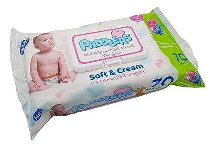 Toallitas Húmedas Paddlers para bebé - Soft & Cream - 70 unidades