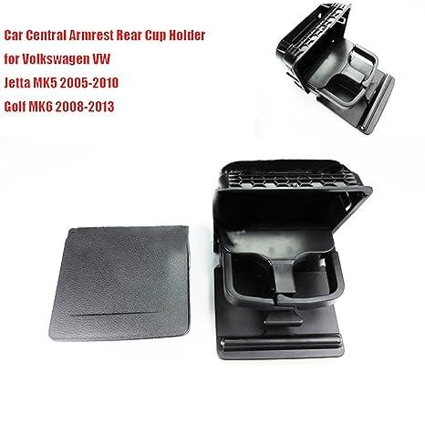 szss-car coche apoyabrazos central trasero taza caja de soporte para bebidas negro