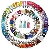 Best KeyZone Bracelets - KeyZone 100 Pieces 50 Colors 40 mm Faux Review