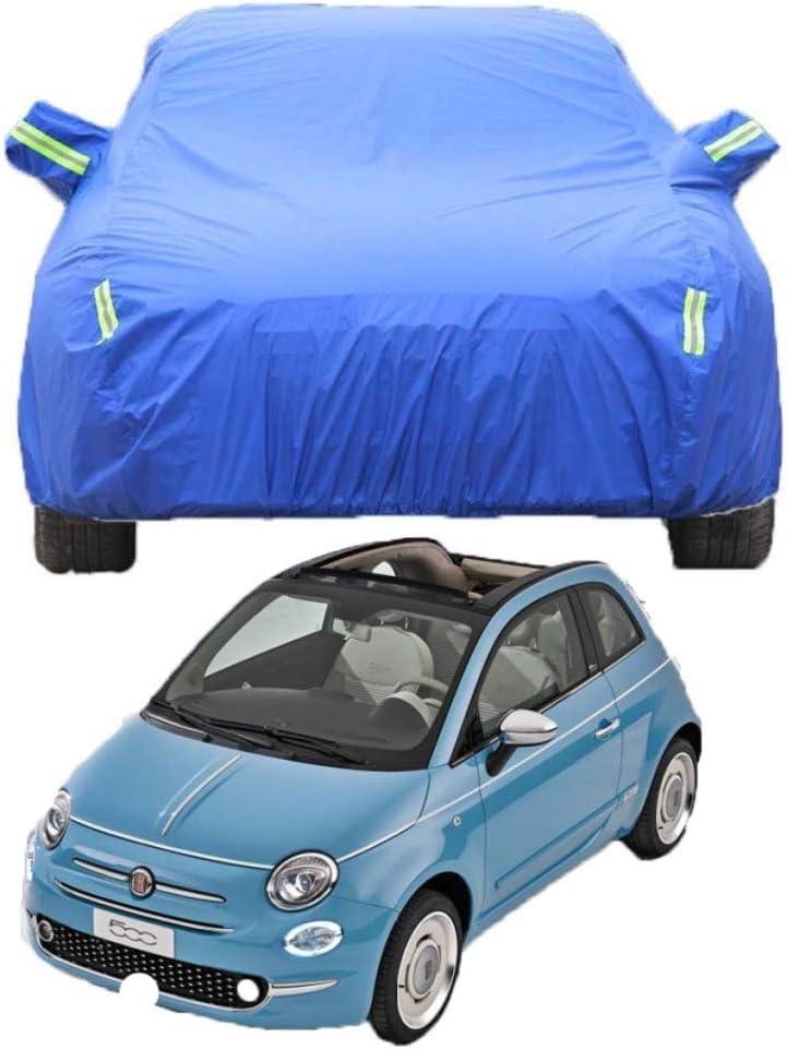 FJXJLKQS Fiat 500 Berline Couvre La Voiture /étanche Pleine /épaisse Et Coton /épaissie avec Verrouillage Antivol Appropri/é Peut /être Personnalis/é pour,Blue