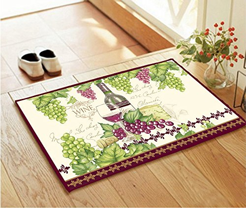 Elegant Anti-Slip Rubber Backing Standing Kitchen Designs Rug Floor Mat 28