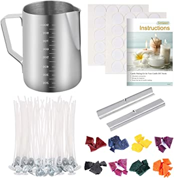Wax Melting Pots Candles Wicks and Stickers DIY Handmade Candles Making Kit