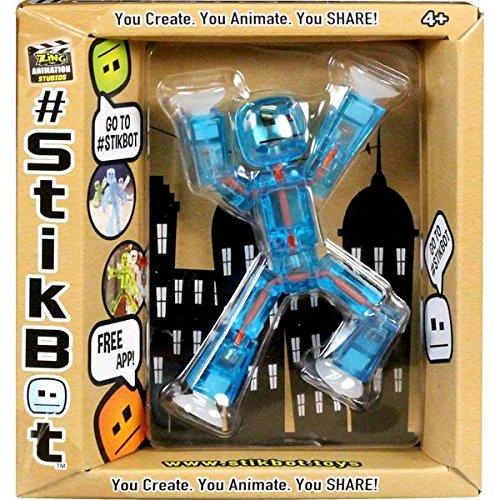 Stikbot Action Figure Translucent Light Blue