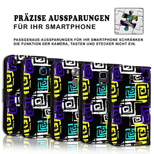 Wallet Book Style Flip Handy Tasche Case Schutz Hülle Schale Motiv Etui für Apple iPhone 5 / 5S - Design Flip MVD197
