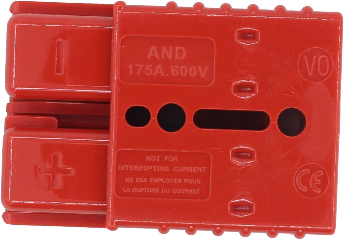 12-36V DC XtremeAmazing Pack of 4 175A Battery Cable Quick Connect Disconnect Plug Kit for Recovery Winch Trailer
