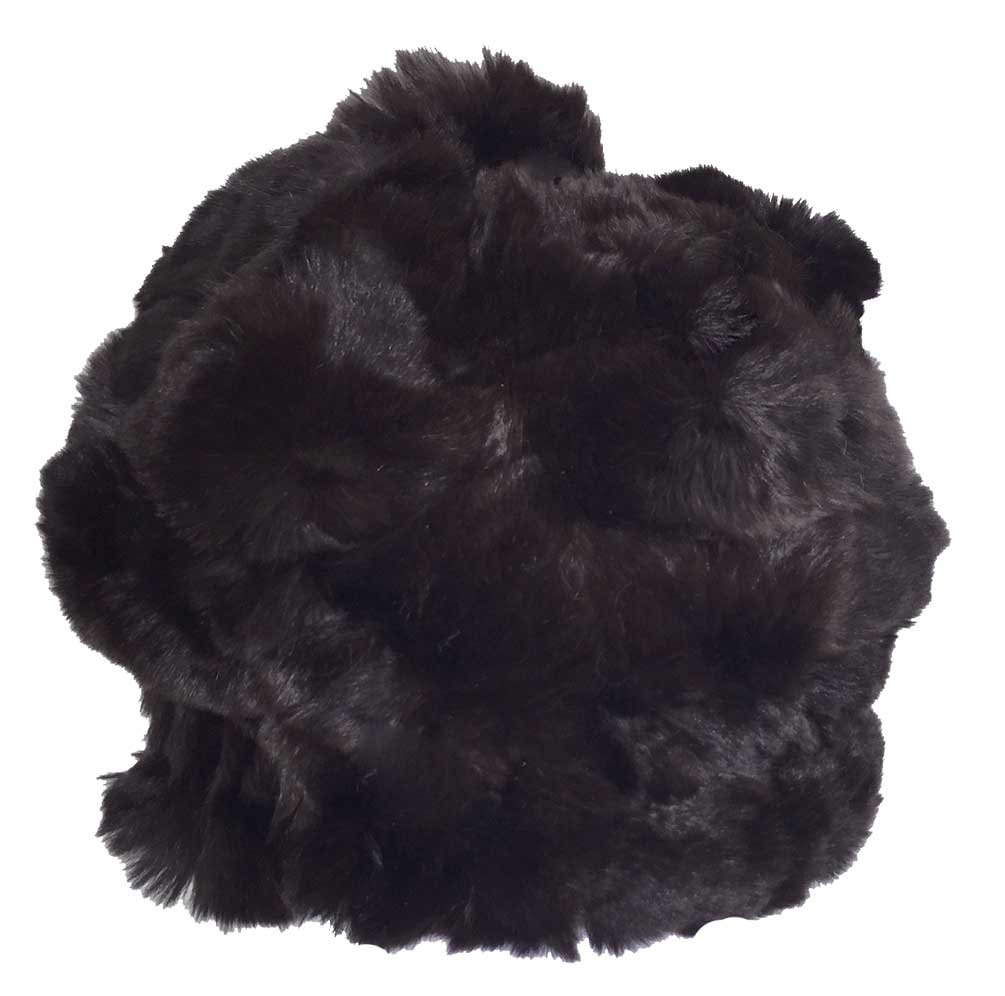 Northstar Women's Chinchilla/Fox Fur Fashion Beanie Hat w/ Pom, Brown. H-33-BRN
