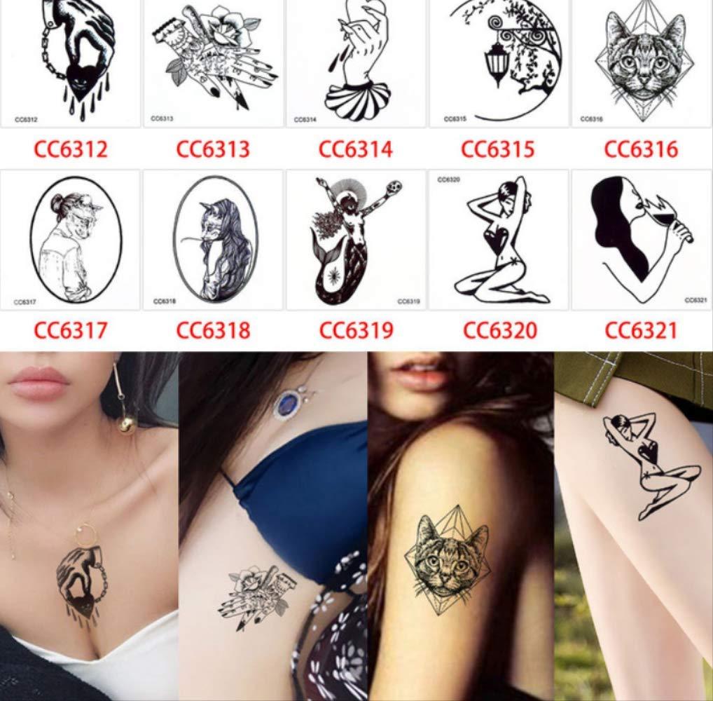 yyyDL Pegatinas de tatuaje impermeables seguras y no tóxicas ...