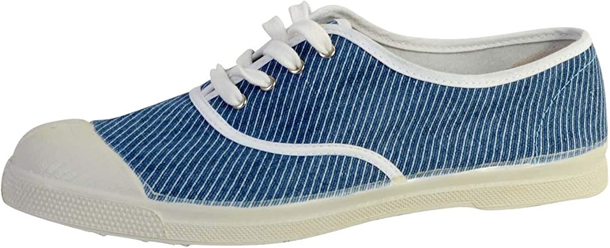Bensimon Tennis Lacet Denim, Baskets Femme
