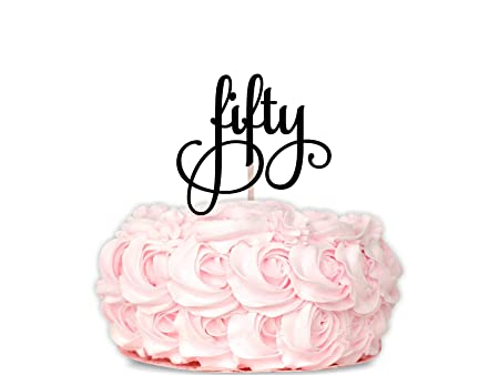 Decoración digital para tarta de 50 cumpleaños con diseño de ...
