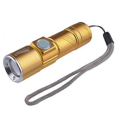 Haute puissance LED lampe de poche rechargeable zoom mini super militaire maison spot extérieur projecteur d'urgence à long terme