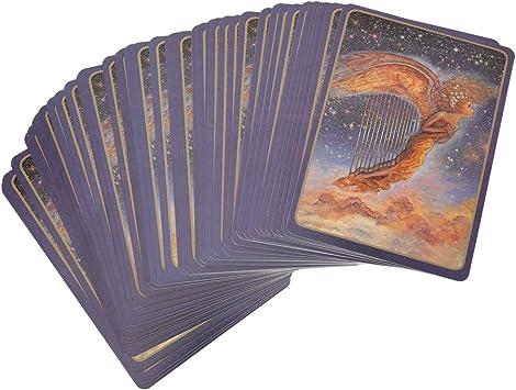 Keenso Cartas del Tarot, 1 Juego de Papel Recubierto Todas Las Cartas de Juego de Mesa de adivinación en inglés Cartas de Tarot místicas Antiguas(A): Amazon.es: Deportes y aire libre