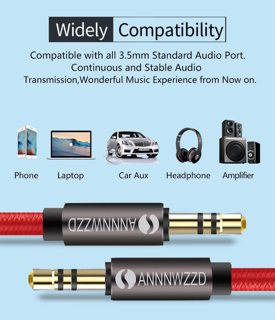LinRui 2M 3,5 mm m/ännlicher Stecker auf m/ännlichen Stecker,Stereo Audio AUX Kabel,f/ür Auto,Kopfh/örer,Smartphones mehr
