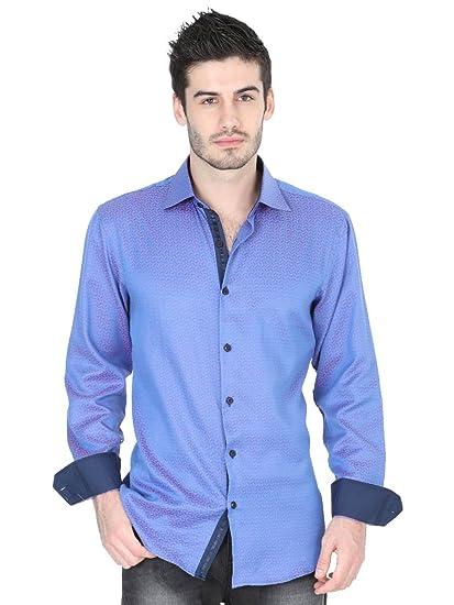 Camisa Casual M/Larga ID 40231 Centenario (CM/L) Tela Azul (