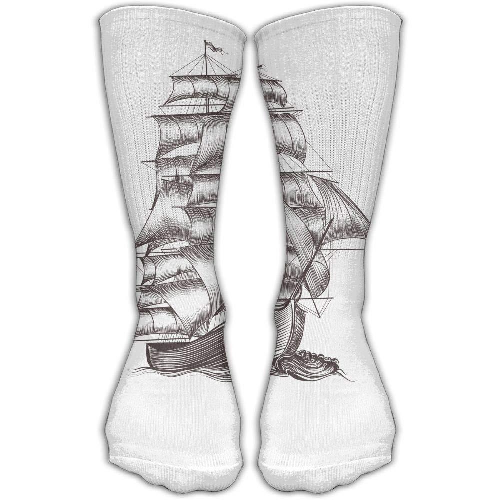 Protect Wrist For Cycling Moisture Control Elastic Sock Tube Socks Grey Ship Boat Athletic Soccer Socks