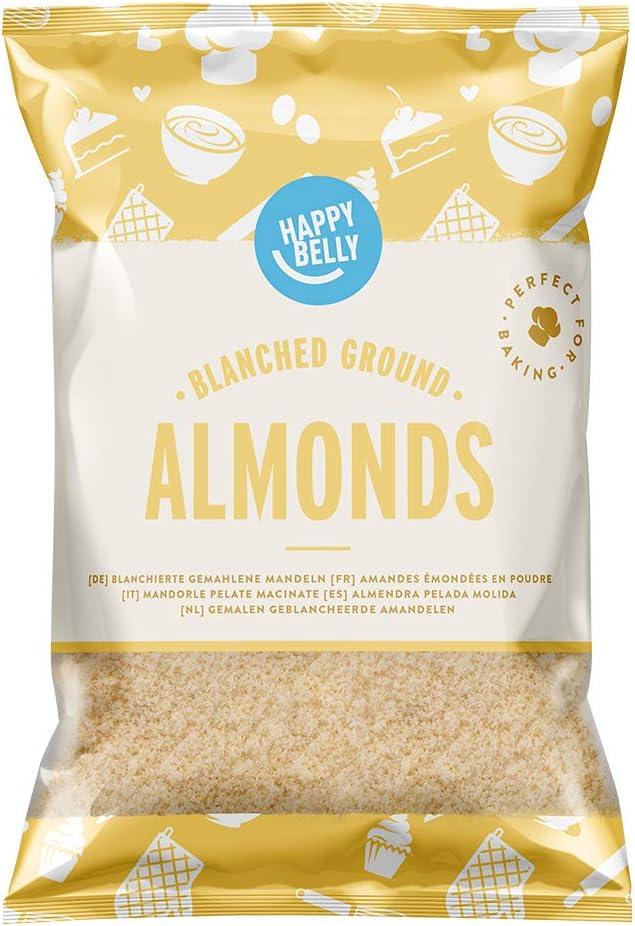 Marca Amazon - Happy Belly Almendras peladas molidas 200gr x 5