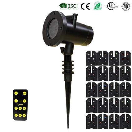 Hlidpu Luces De Proyector Navidad LED - Lámpara De Proyección De ...